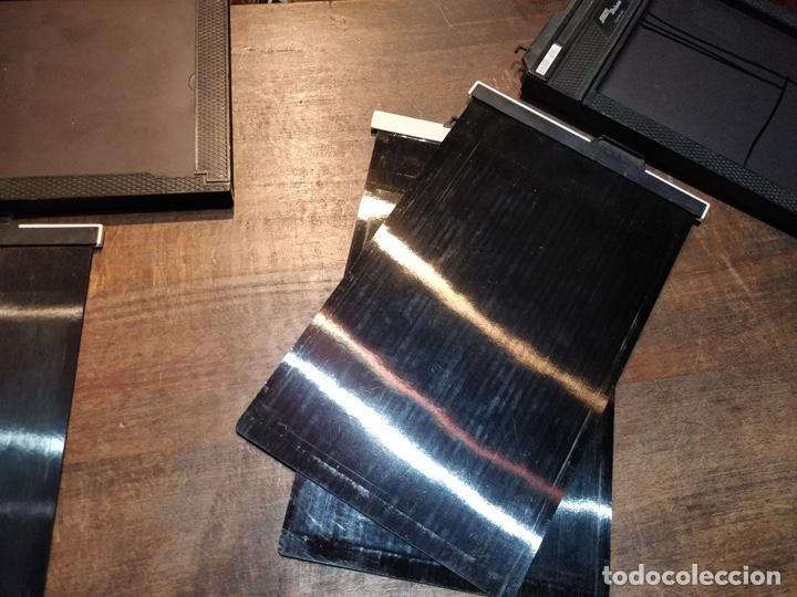 Cámara de fotos: 4 placas con dos fundas Agfachrome R 100 S - AP 44/E 6 - 13x18cm - Foto 7 - 177093060