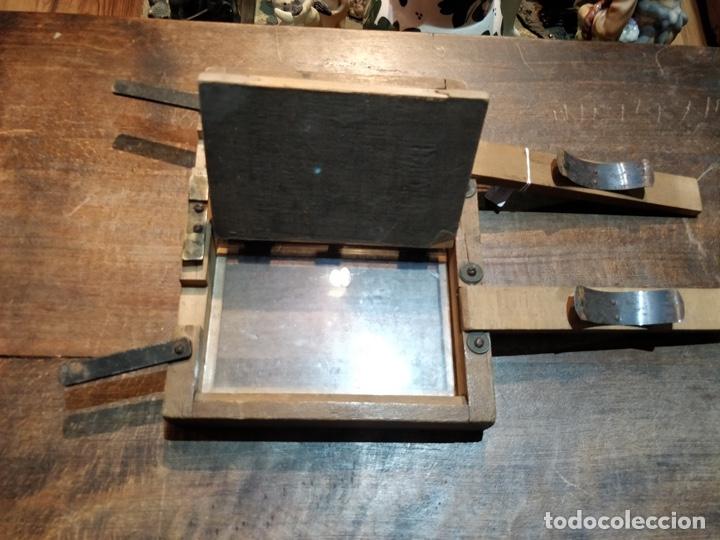 Cámara de fotos: Placa doble de revelado fotográfico principios del siglo XX en madera - 23 x 18cm - Foto 3 - 177468363