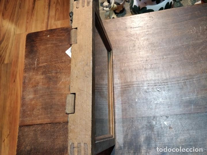 Cámara de fotos: Placa doble de revelado fotográfico principios del siglo XX en madera - 23 x 18cm - Foto 5 - 177468363