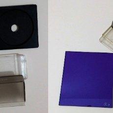 Cámara de fotos: DOS FILTROS COKIN: DOBLE MASCARA A+B 345 / COEF. X 3 BLUE (80B) A21. Lote 76149407