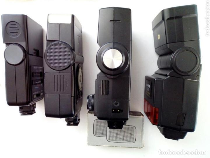 Cámara de fotos: Lote 4 FLASHES para cámaras analógicas - Flash - Réflex - Film Camera - Vintage - Años 80/90 - Foto 3 - 178592292