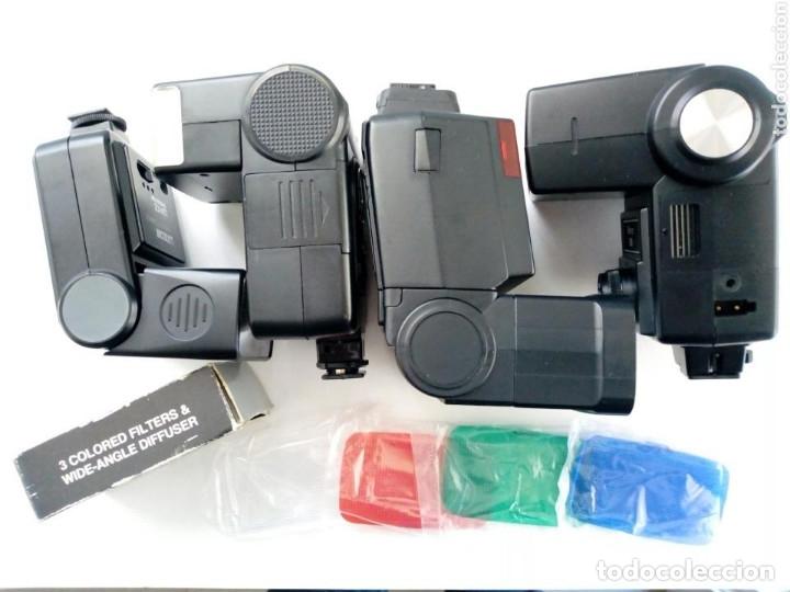 Cámara de fotos: Lote 4 FLASHES para cámaras analógicas - Flash - Réflex - Film Camera - Vintage - Años 80/90 - Foto 4 - 178592292
