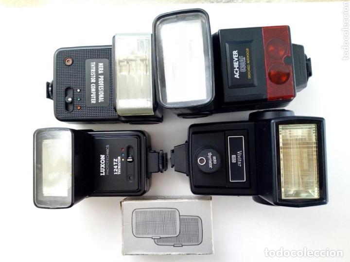 Cámara de fotos: Lote 4 FLASHES para cámaras analógicas - Flash - Réflex - Film Camera - Vintage - Años 80/90 - Foto 5 - 178592292