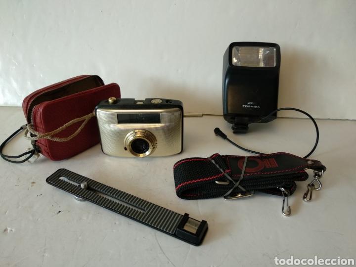 EXCLUSIVO LOTE DE FOTOGRAFÍA INCLUYE PENTI I FUNCIONANDO (Cámaras Fotográficas Antiguas - Objetivos y Complementos )