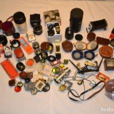 Cámara de fotos: GRAN LOTE DE ACCESORIOS DE FOTOGRAFÍA, DIVERSAS MARCAS: AGFA, VOIGTLANDER, KODAK, ROLLEI, IHAGEE,.... Lote 179183180