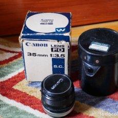 Cámara de fotos: CANON FD 35MM 3.5 SC, FUNDA Y CAJA (COMPATIBLE CON SONY7, NIKON Z, PANASONIC S Y OTRAS MIRRORLESS). Lote 179530320