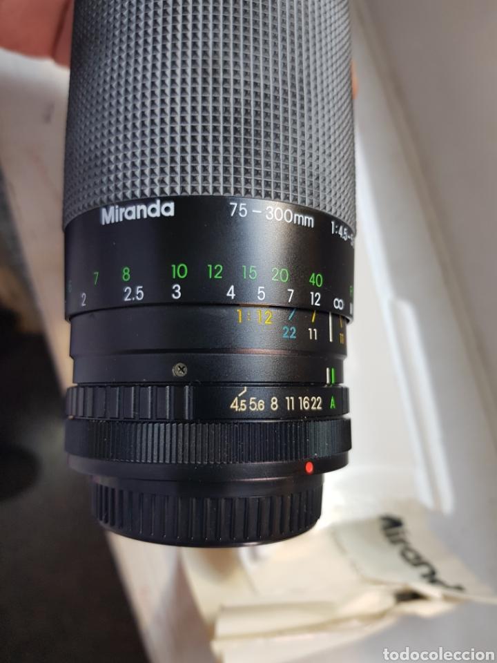 Cámara de fotos: Objetivo Miranda 75-300mm Macro Lens en caja original y manual - Foto 3 - 179939515