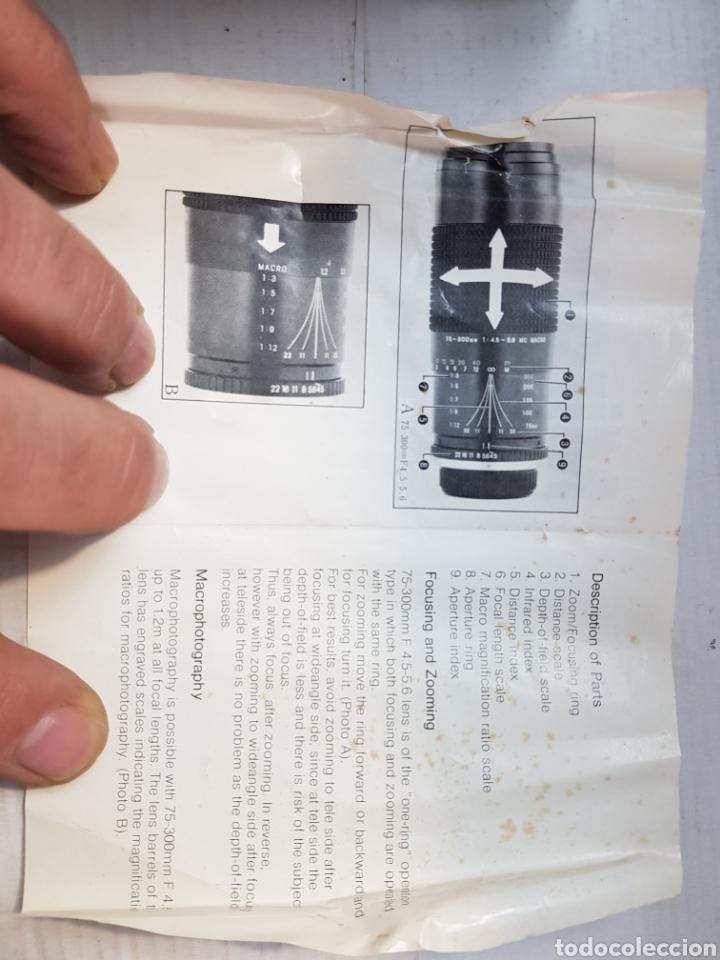 Cámara de fotos: Objetivo Miranda 75-300mm Macro Lens en caja original y manual - Foto 8 - 179939515