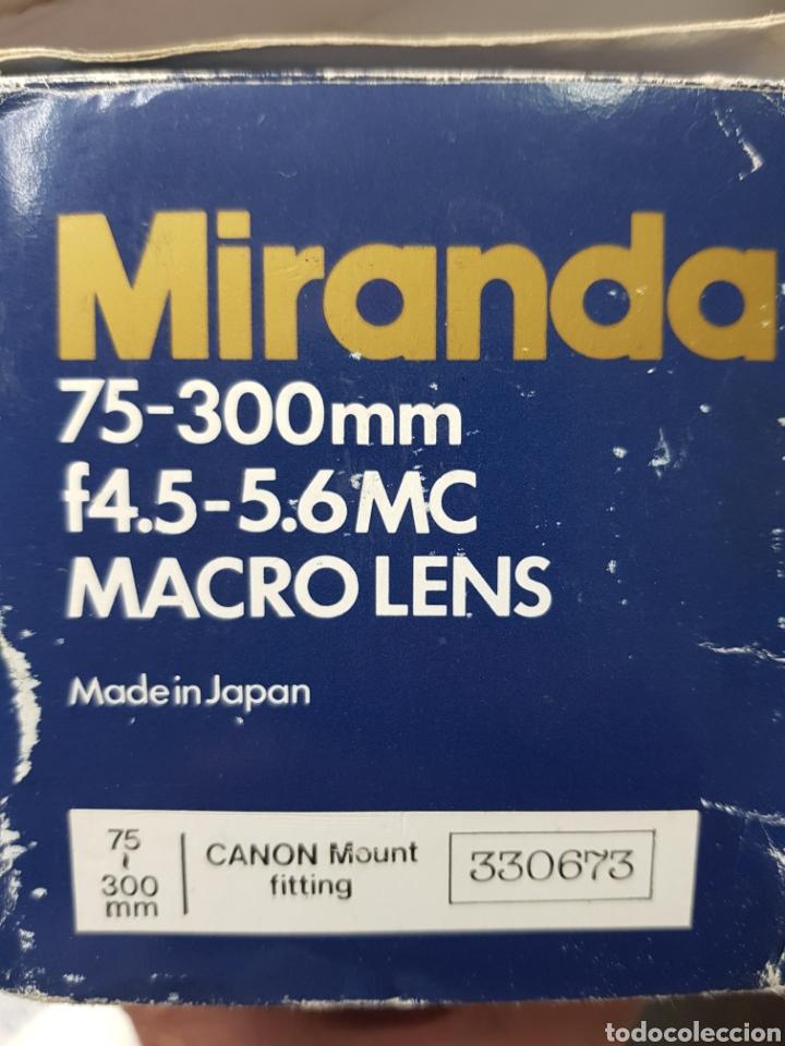 Cámara de fotos: Objetivo Miranda 75-300mm Macro Lens en caja original y manual - Foto 11 - 179939515