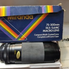 Cámara de fotos: OBJETIVO MIRANDA 75-300MM MACRO LENS EN CAJA ORIGINAL Y MANUAL. Lote 179939515