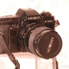 Cámara de fotos: CAMARA MINOLTA X 300 OBJETIVO 35-70 SEGUNDA MANO FUNCIONA LLEVA FILTRO UV-55. TAPA MINOLTA Y CO. Lote 180096240