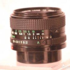 Cámara de fotos: OBJETIVO CANON F.D. 28-F.2,8 TAPAS CANON SEGUNDA MANO . Lote 180096705