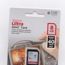 Cámara de fotos: NUEVO TARJETA SANDISK ULTRA SDHC 8 GB CLASS 10 40MB/S PARA CANON EOS Y OTROS. Lote 180327632
