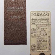 Appareil photos: TABLA EXPOSICION HASSELBLADS. Lote 182021093