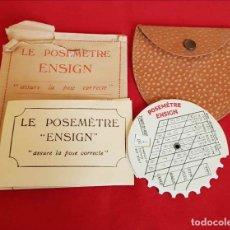Cámara de fotos: TABLA EXPOSICION ENSING. Lote 197162283