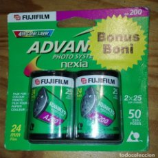 Cámara de fotos: 2 CARRETES APS FUJIFILM 2 X 25 EXP. COLOR ISO 200 - NUEVOS EN BLISTER. Lote 203540493