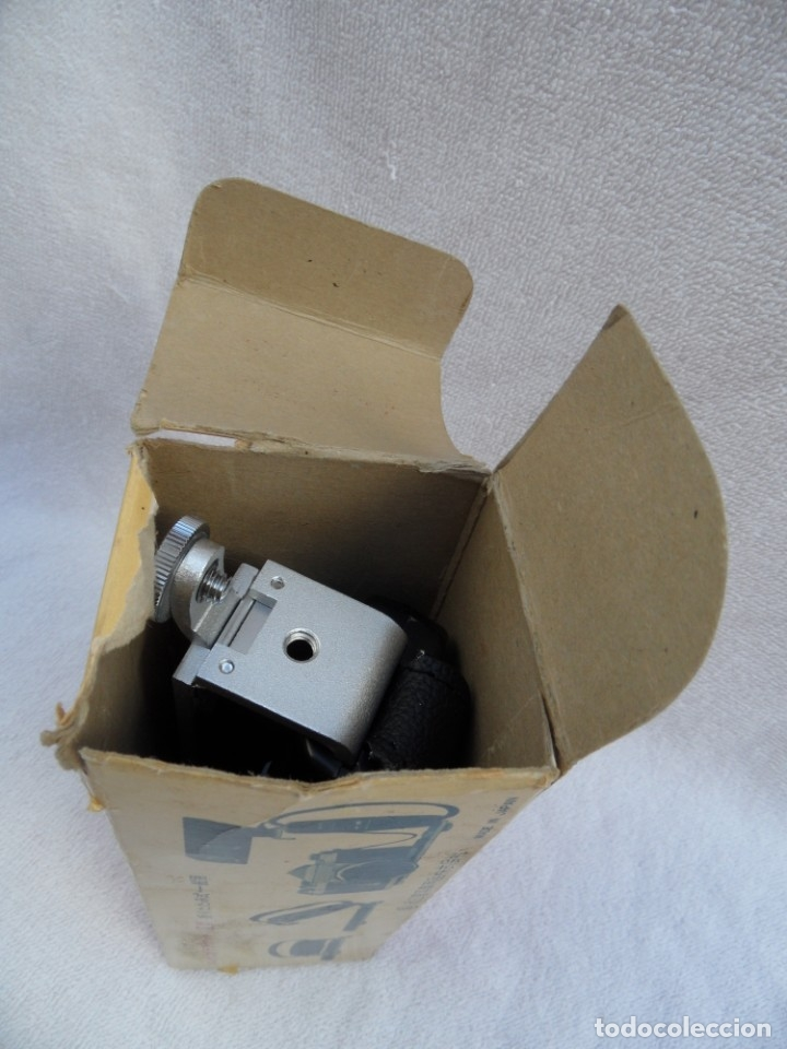 Cámara de fotos: Empuñadura anatomica con regleta para camaras fotograficas. Hansa, Japon,,años 70. sin uso. Caja. - Foto 11 - 183262670