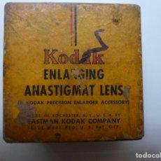 Cámara de fotos: KODAK ENLARGING ANASTIGMAT LENS. Lote 183279111