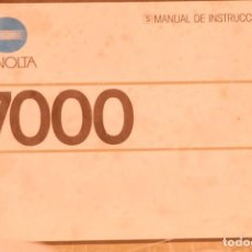 Câmaras de fotos: MANUAL MINOLTA 7000 SEGUNDA MANO. Lote 183894507