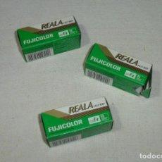 Cámara de fotos: 3 CARRETES FUJI FUJICOLOR REALA 120.PRECINTADO.. Lote 184896441