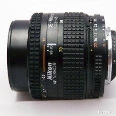 Cámara de fotos: OBJETIVO NIKON AF 35-70MM F3.3-4.5 -MACRO. Lote 184910401