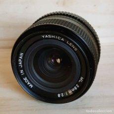 Cámara de fotos: OBJETIVO YASHICA ML 2.8/28 MM, PARA YASHICA Y CONTAX. Lote 186420650