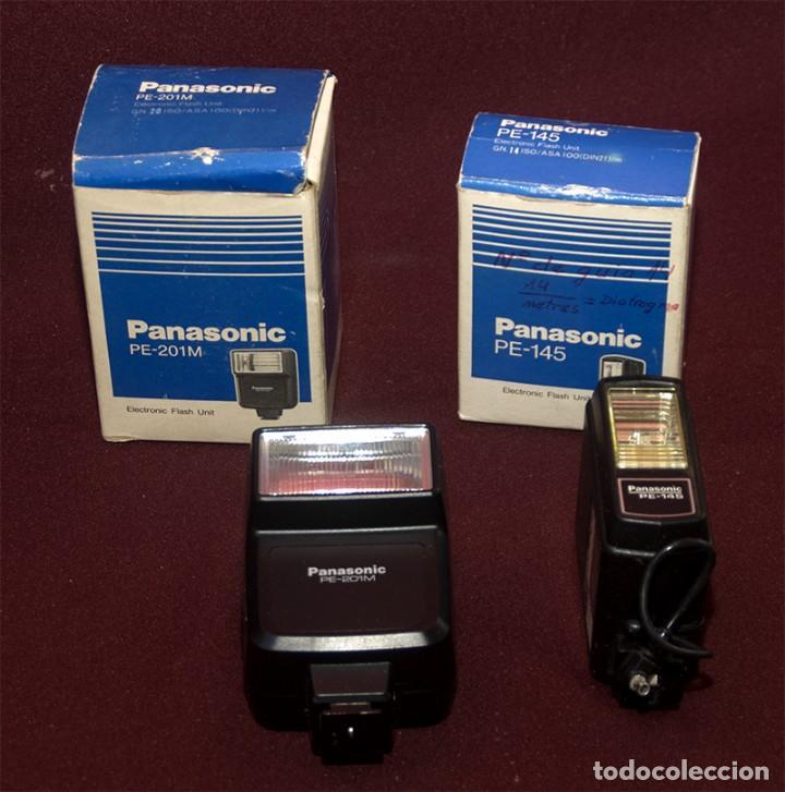 FLASH PANASONIC PE 201 M Y PE 145 (Cámaras Fotográficas Antiguas - Objetivos y Complementos )
