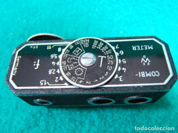 Cámara de fotos: COMBIMETER-COMBI METER-TELEMETRO FOTOMETRO-DIAFRAGMAS-EXPOSICION ESCALA-MADE IN GERMANY-AÑOS 50. - Foto 2 - 189256833
