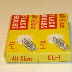 Cámara de fotos: 2 CAJAS ALL GLASS 10 FLASH BULBS SL - 1. Lote 190783576