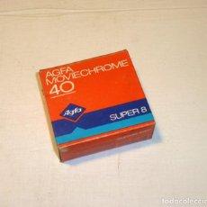 Cámara de fotos: PELICULA AGFA MOVIECHROME 40 SUPER 8.PRECINTADO.. Lote 190783586