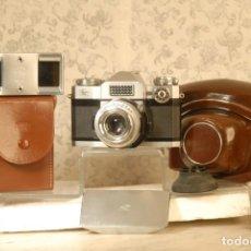 Cámara de fotos: CAMARA CONTAFLEX ZEISS IKON TESSAR 2.8,50 CASE 813.50.2,5 CASE 1211 PARASOL . Lote 191588990