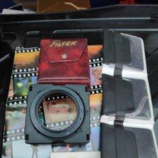 Cámara de fotos: LOTE 9 FILTROS Y PORTA FILTRO 52 MM. Lote 194369583