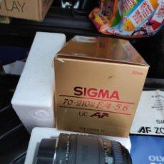 Cámara de fotos: OBJETIVO SIGMA 70-210 F/4-5.6 FOR CANON 1000 Y SIMILARES. Lote 194370223