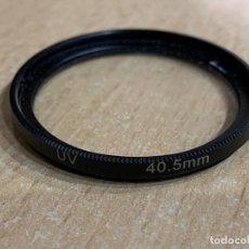 Cámara de fotos: FILTRO 40,5 MM UV. Lote 197527281