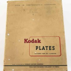 Cámara de fotos: KODAK CAJA CON 12 PLACAS DE CRISTAL 10 X 12,7 CM, SIN USAR. Lote 197659298