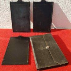 Cámara de fotos: 3 PORTAPLACAS ERNEMANN PARA PLACAS DE CRISTAL DE 10 X 15 CM. Lote 198187143