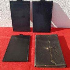 Cámara de fotos: 3 PORTAPLACAS ERNEMANN PARA PLACAS DE CRISTAL DE 10 X 15 CM. Lote 198187205