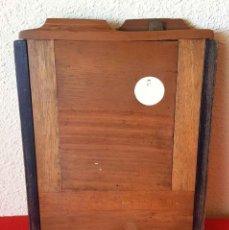 Cámara de fotos: CHASIS PORTAPLACAS DE MADERA, PARA PLACAS DE CRISTAL DE 13 X 18 CM. Lote 198425826