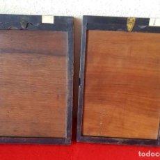 Cámara de fotos: 2 CHASIS PORTAPLACAS DE MADERA, PARA PLACAS DE CRISTAL DE 13 X 18 CM. Lote 198431578