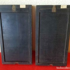 Cámara de fotos: 2 CHASIS PORTAPLACAS DE MADERA, PARA PLACAS DE CRISTAL DE 9 X 18 CM. Lote 198459347