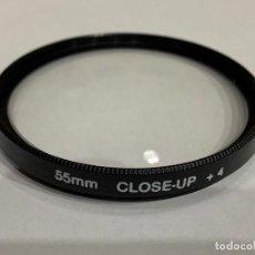 Cámara de fotos: FILTRO 55MM CLOSE-UP +4. Lote 198498072