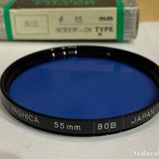 Cámara de fotos: YASHICA FILTRO 55MM SCREW-IN 80B. Lote 198553993