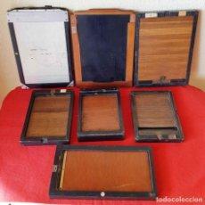 Cámara de fotos: 7 CHASIS PORTAPLACAS PARA PLACAS DE CRISTAL DE 9 X 12 Y 13 X 18 CM. Lote 198691718