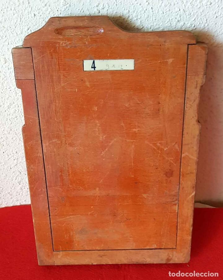 CHASIS PORTAPLACAS DE MADERA, PARA PLACAS DE CRISTAL DE 13 X 18 CM (Cámaras Fotográficas Antiguas - Objetivos y Complementos )