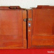 Cámara de fotos: 2 CHASIS PORTAPLACAS DE MADERA, PARA PLACAS DE CRISTAL DE 13 X 18 CM. Lote 198813038