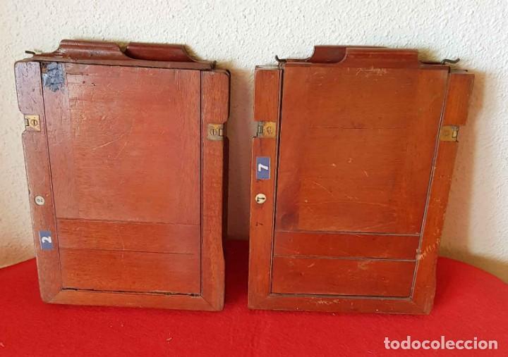 Cámara de fotos: 2 CHASIS PORTAPLACAS de madera, para placas de cristal de 13 x 18 cm - Foto 2 - 198813038