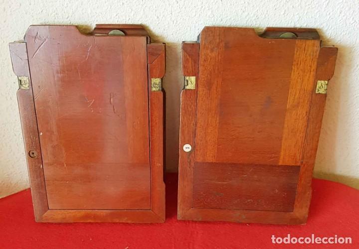 2 CHASIS PORTAPLACAS DE MADERA, PARA PLACAS DE CRISTAL DE 13 X 18 CM (Cámaras Fotográficas Antiguas - Objetivos y Complementos )