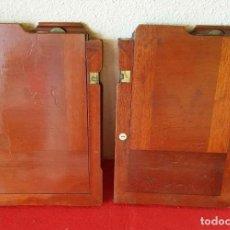 Cámara de fotos: 2 CHASIS PORTAPLACAS DE MADERA, PARA PLACAS DE CRISTAL DE 13 X 18 CM. Lote 198813223