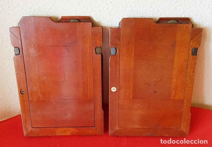 Cámara de fotos: 2 CHASIS PORTAPLACAS de madera, para placas de cristal de 13 x 18 cm - Foto 2 - 198813223