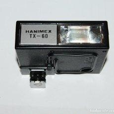 Cámara de fotos: FLASH ELECTRONICO HANIMEX TX60 CON CAJA Y LIBRO DE INSTRUCCIONES. Lote 198847521
